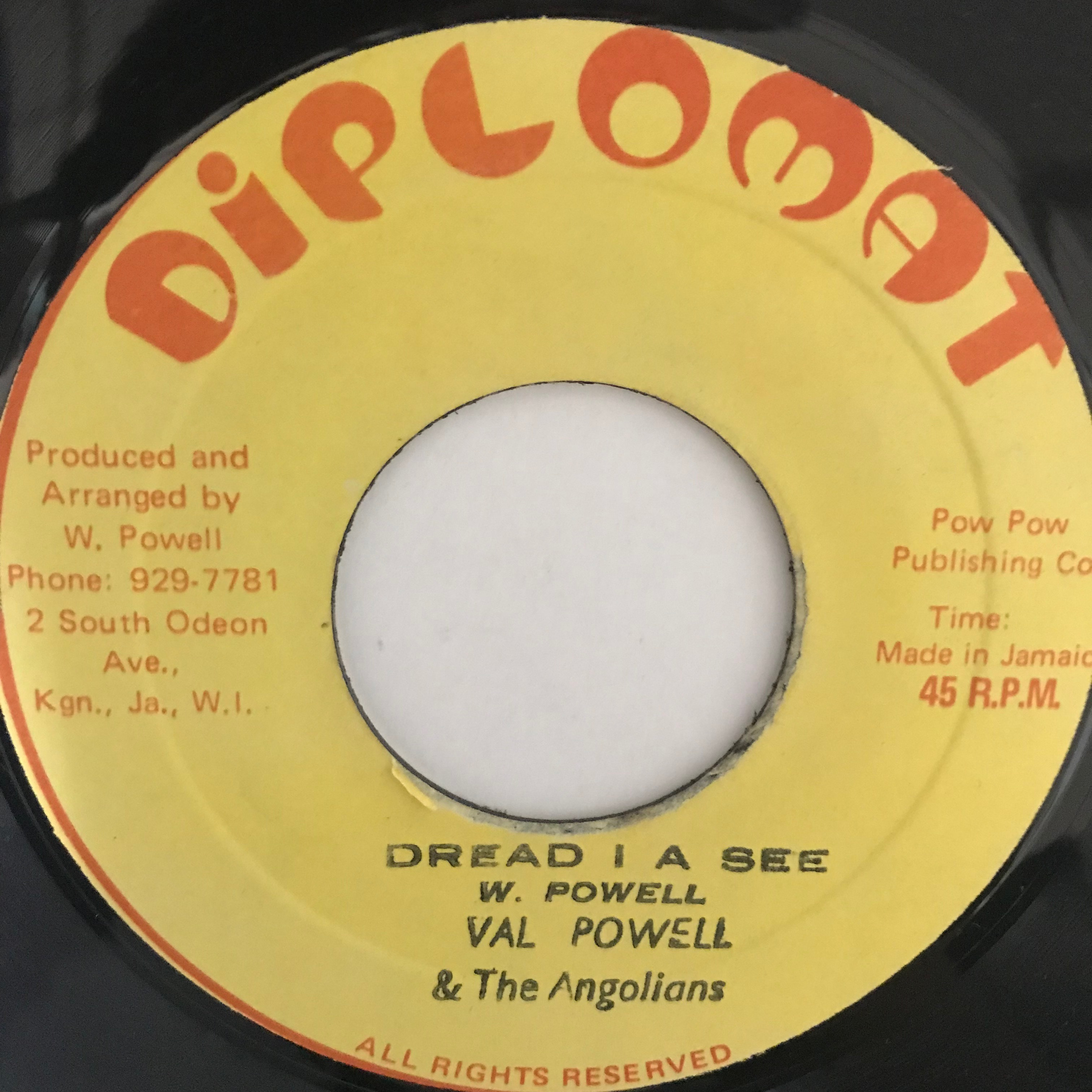 Val Powell & The Angolans - Dread I A See【7-10790】