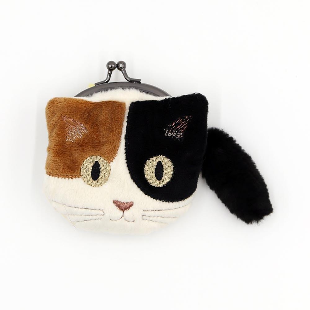 猫小銭入れ(ファミネコ小銭入れ)ブラウン