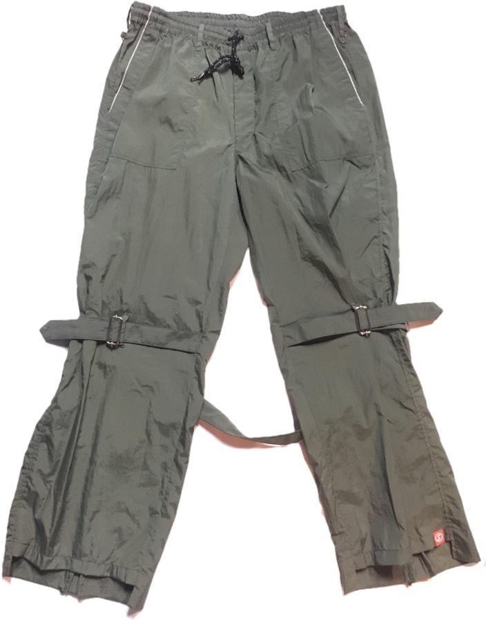 SKIN / nylon bondage pants(olive) - 画像1