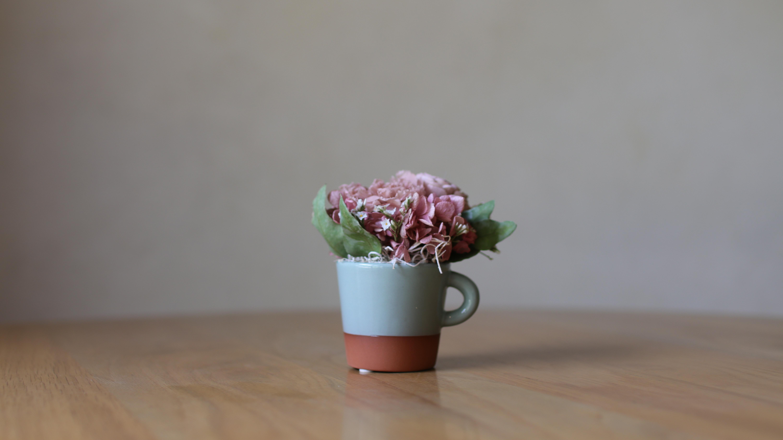「柔らかなピンク」コーヒーとお花の贈り物