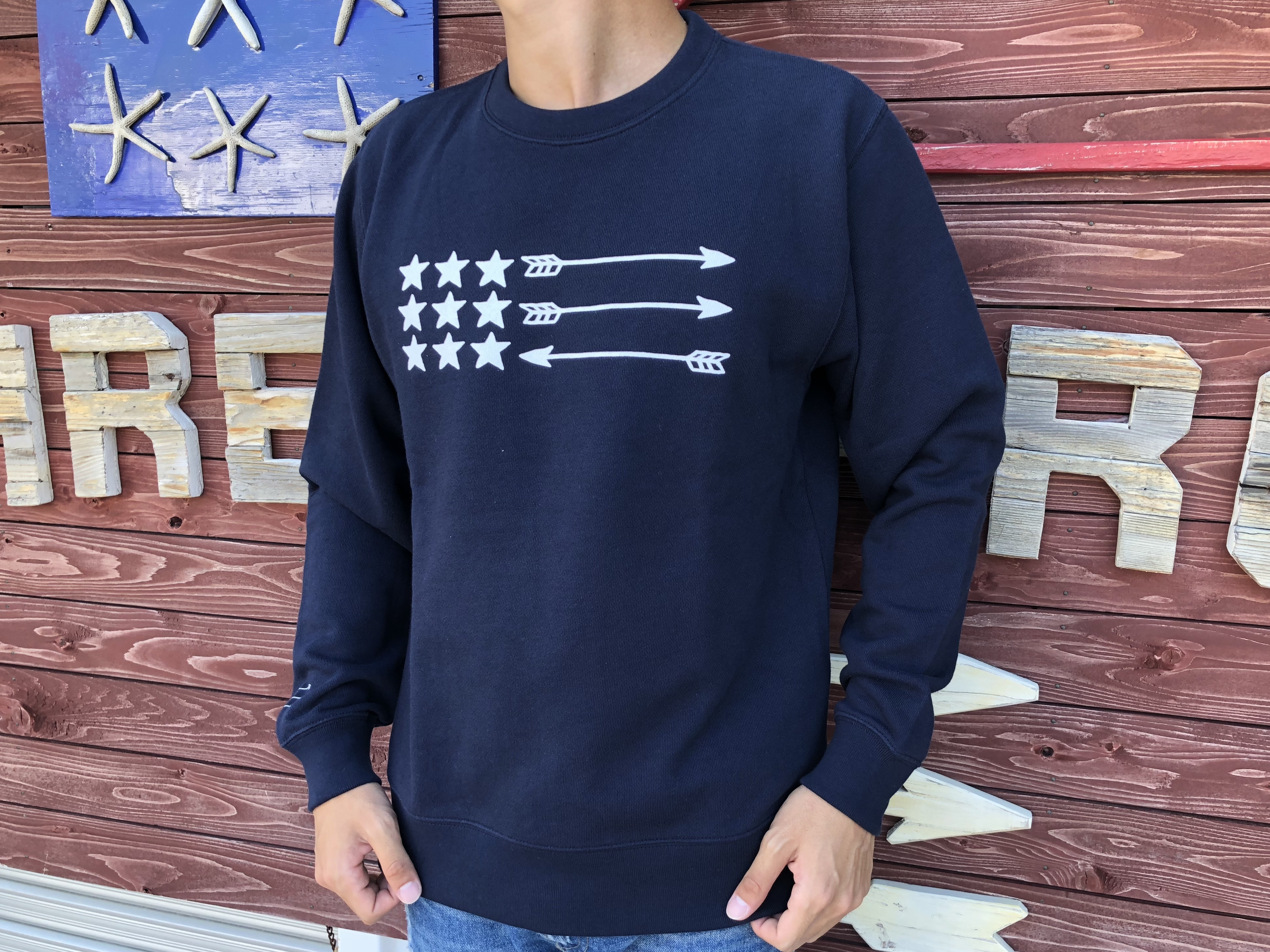 USA ArrowFlag スウェット(navy)