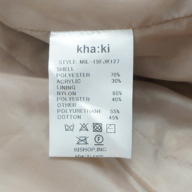 kha:ki カーキ B3 BOA JACKET ボアジャケット (品番mil-19fjk127)