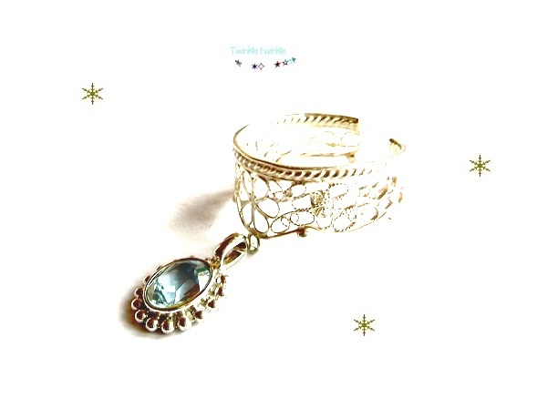 【SV925】雪の女王のリング *Aquamarin...海の妖精の宝物*