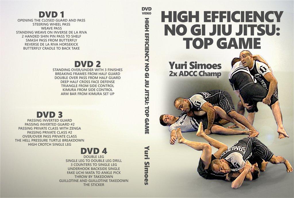 ユーリ・シモエス  ハイエフェセンシー・ノーギ柔術・トップゲーム  DVD 4枚セット