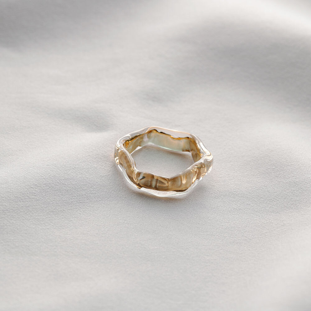 honeycomb ring gold