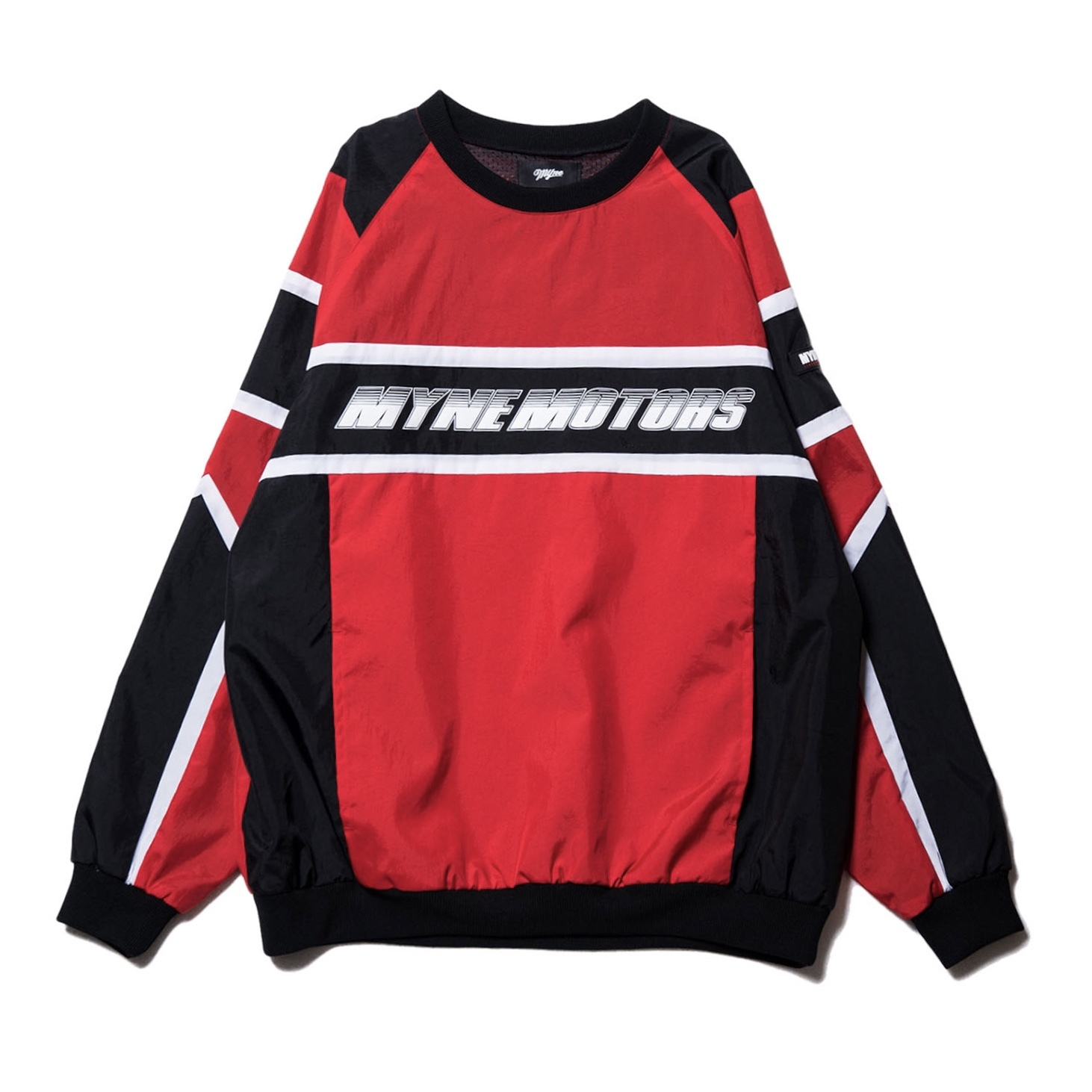 MYNE MOTORS nylon pullover / RED - 画像1
