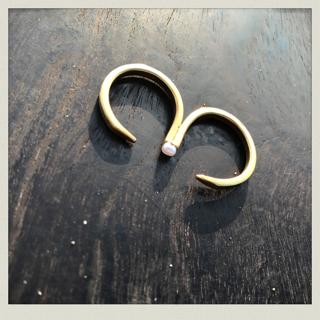 pearl ring 1   PeR-1  brass
