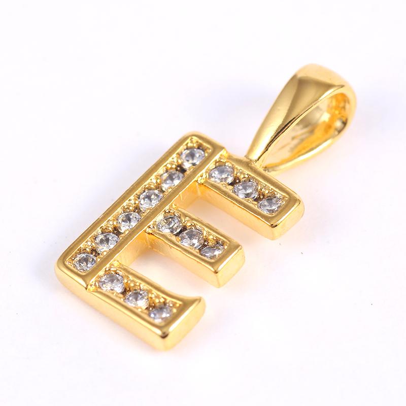 K18GP 【E】ダイヤモンドアルファベット パヴェ チャーム