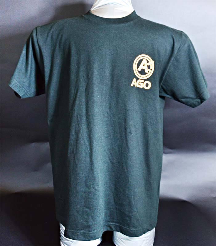 AGOロゴプリント オリジナルTシャツ black - 画像1