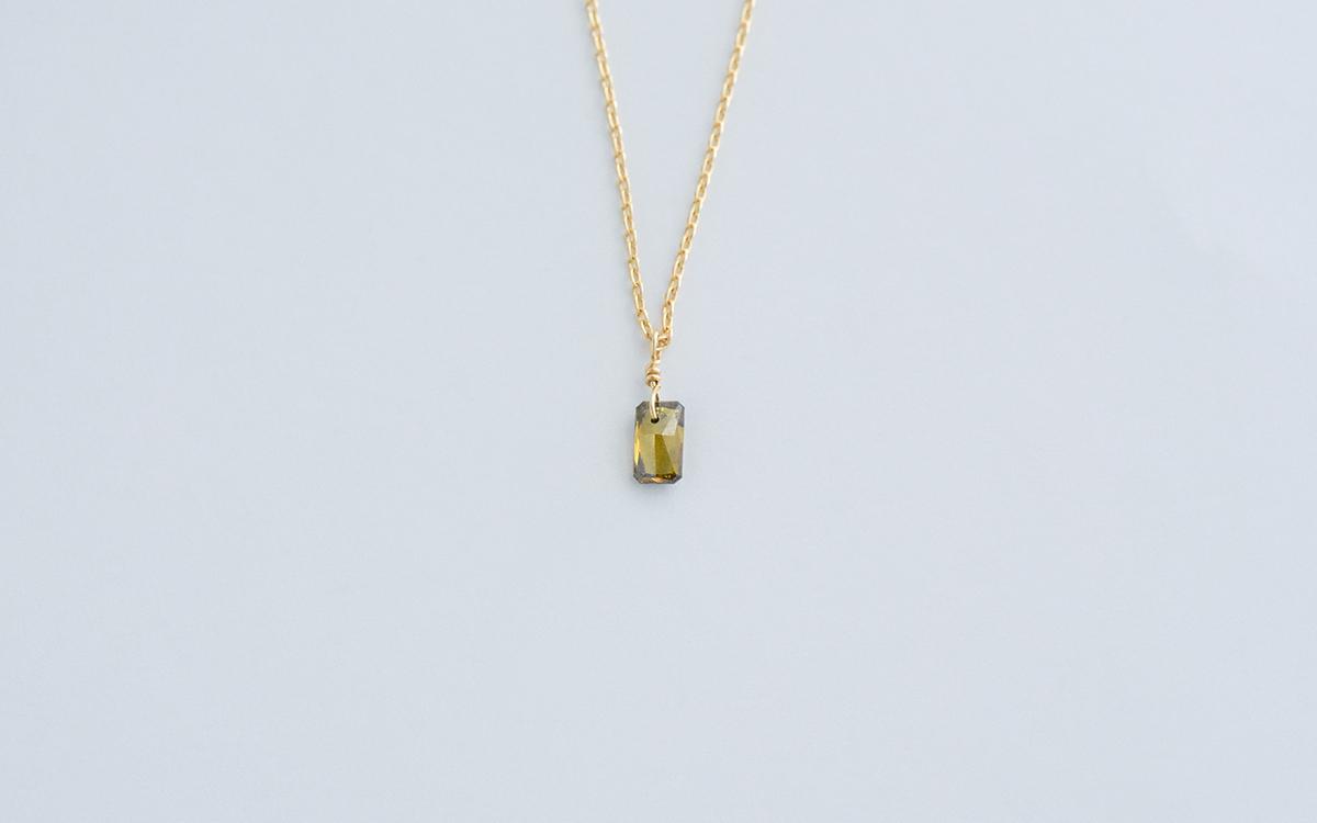 ローズカットダイヤモンドネックレス