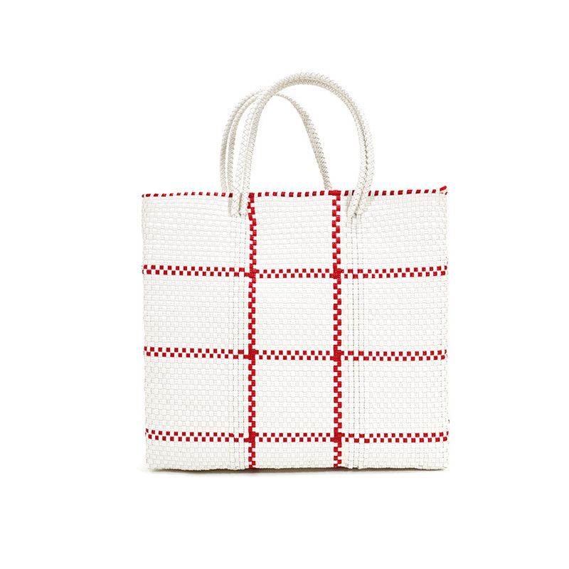 MERCADO BAG STICH- Red x White(S)