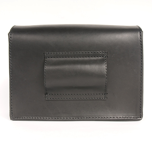 hs18WT-IRFG01 LEATHER BODY BAG (black)