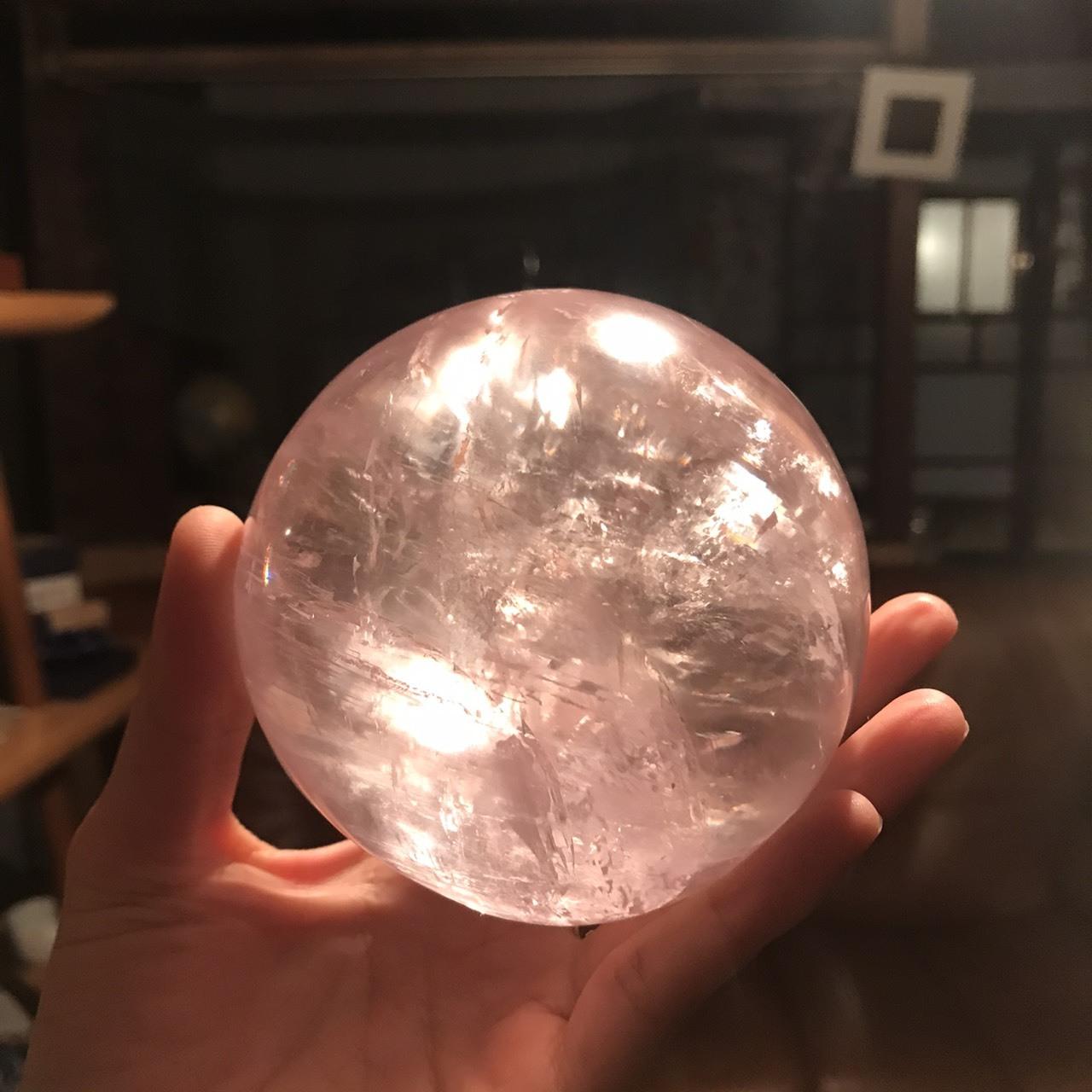 ピンクカルサイト丸玉