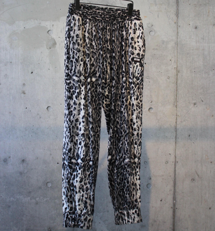 LEOPARD TRACK PANTS / BLACK - 画像1