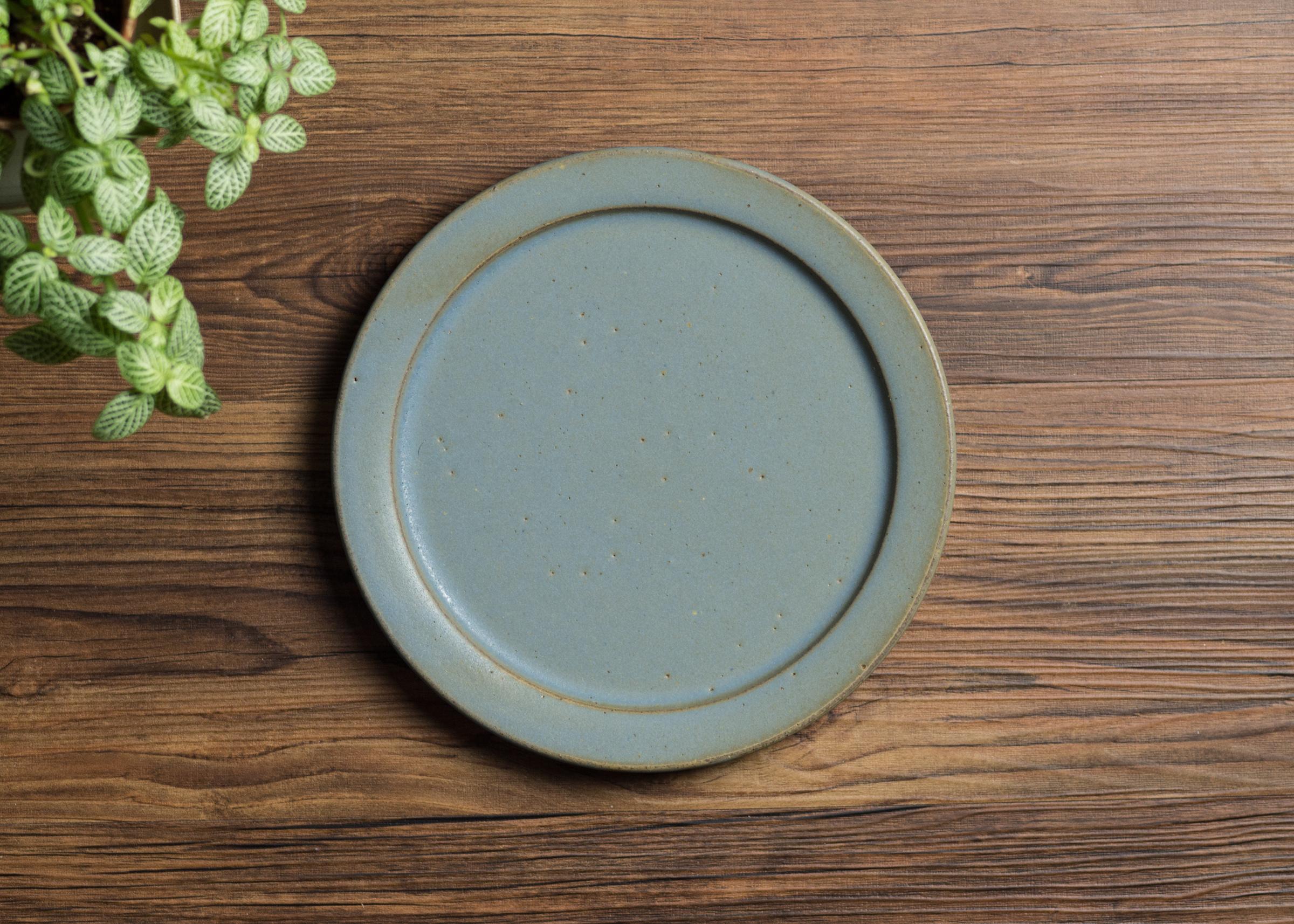 SHIROUMA 洋皿 21cm 灰色 中皿 プレート/長谷川 哲也