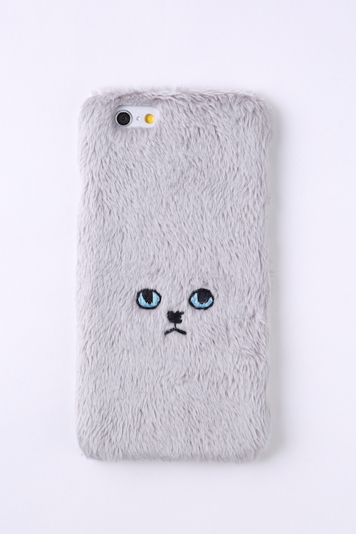 【iPhone7専用】ネコハードケース【グレー】