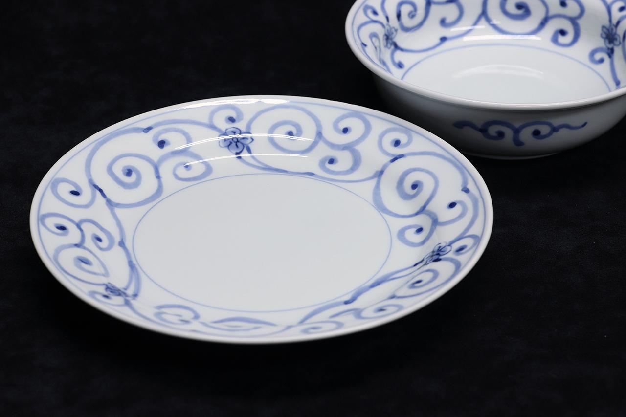 花唐草 6寸皿 作:井手國博・与志郎窯(有田焼)