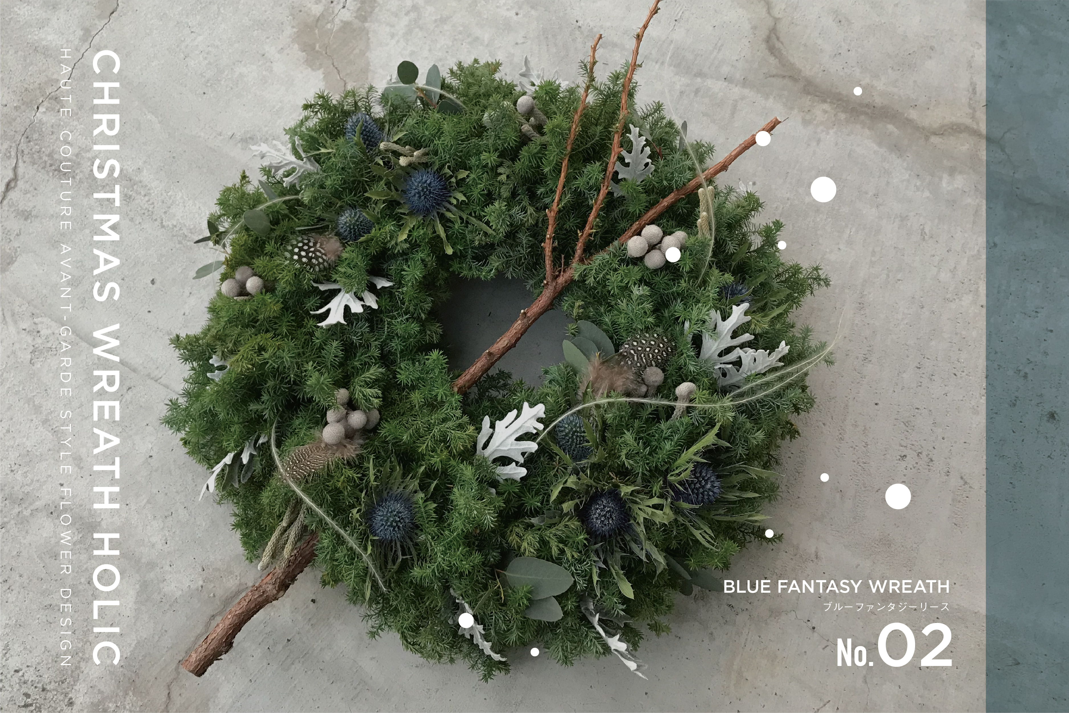 CHRISTMAS WREATH HOLIC/size:L