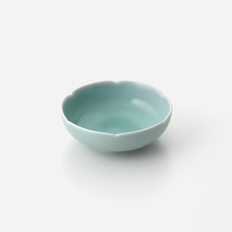 青磁花型 深小鉢