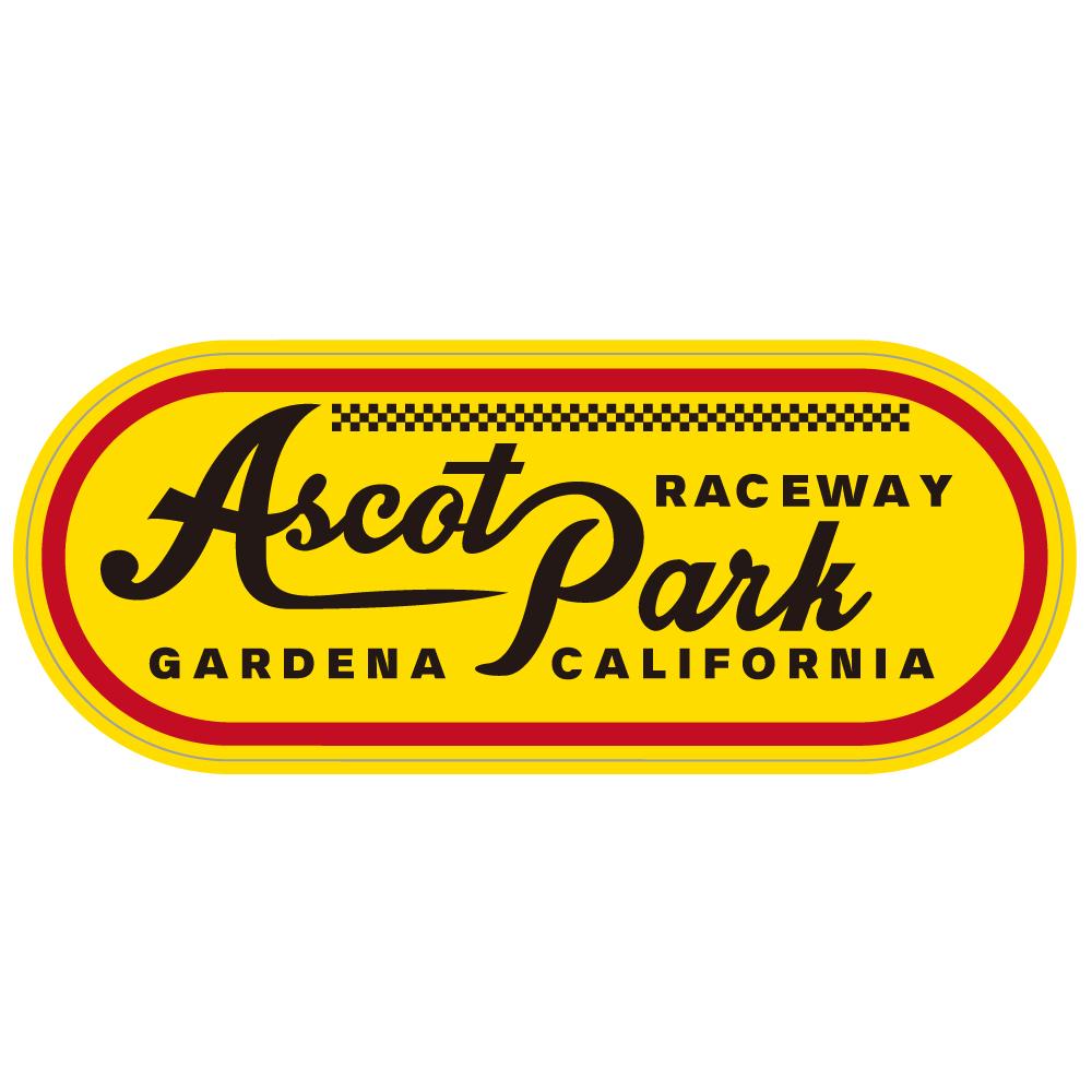 "166 Ascot Park RACEWAY ""California Market Center"" アメリカンステッカー スーツケース シール"