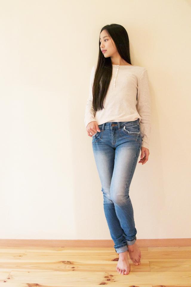 ストレートデニム(海色) Straight Jeans (Ocean Blue)