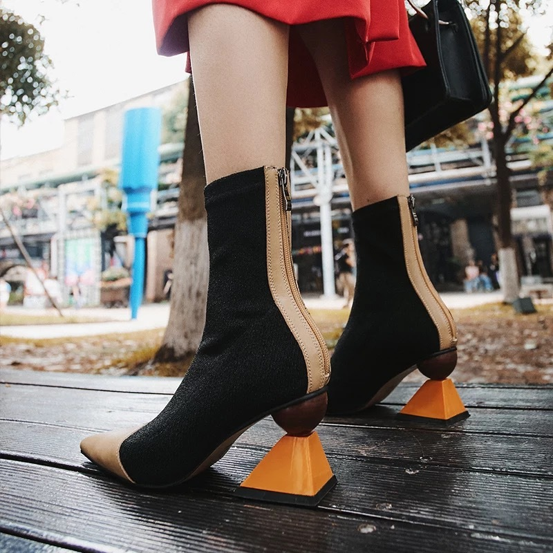 wood sole boots