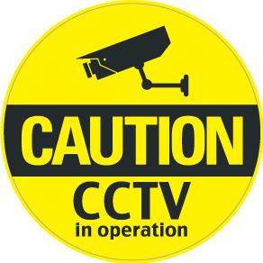 """020 CAUTION CCTV """"California Market Center"""" アメリカンステッカー スーツケース シール"""