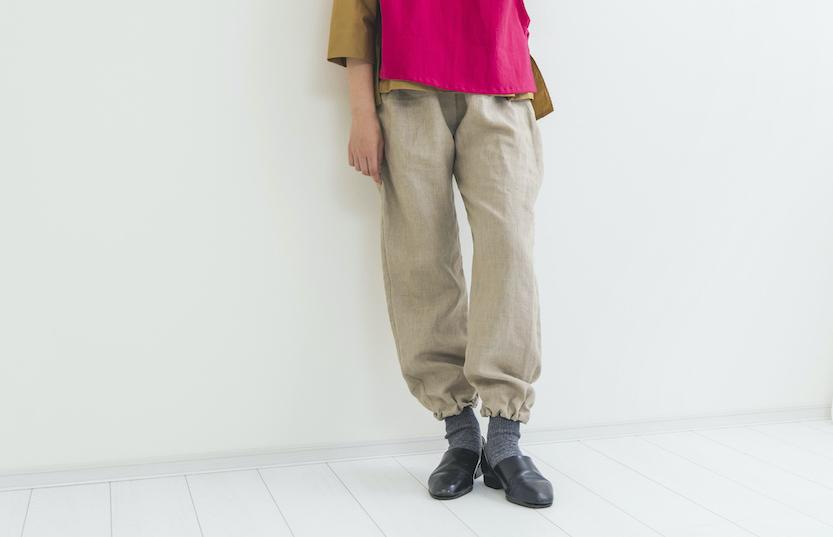 【期間限定受注】リネンデザインパンツ beige