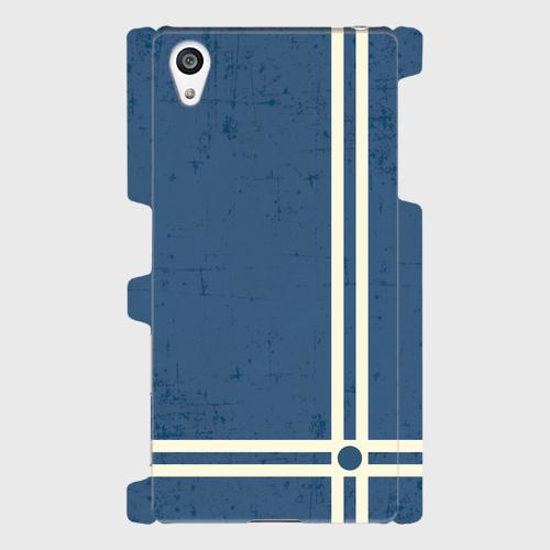 レトロストライプ(青) / Androidスマホケース(ハードケース)