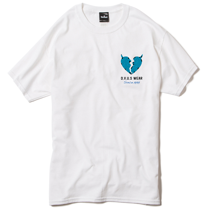【Deviluse | デビルユース】Heartaches T-shirts(White)