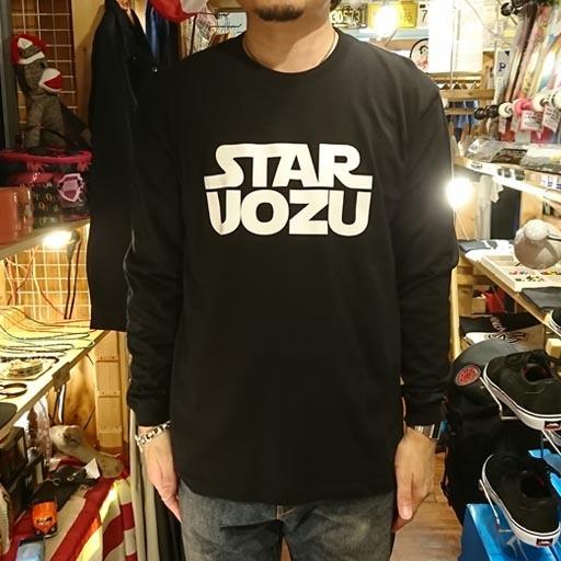 STAR UOZU 長袖Tシャツ ブラック×ホワイト