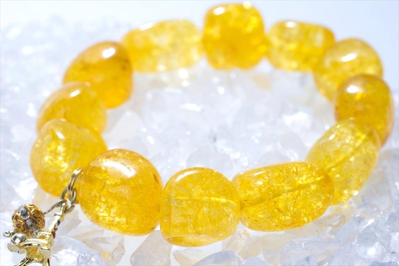 Crack Stone yellow【パワーストーンブレスレット 】 - 画像3