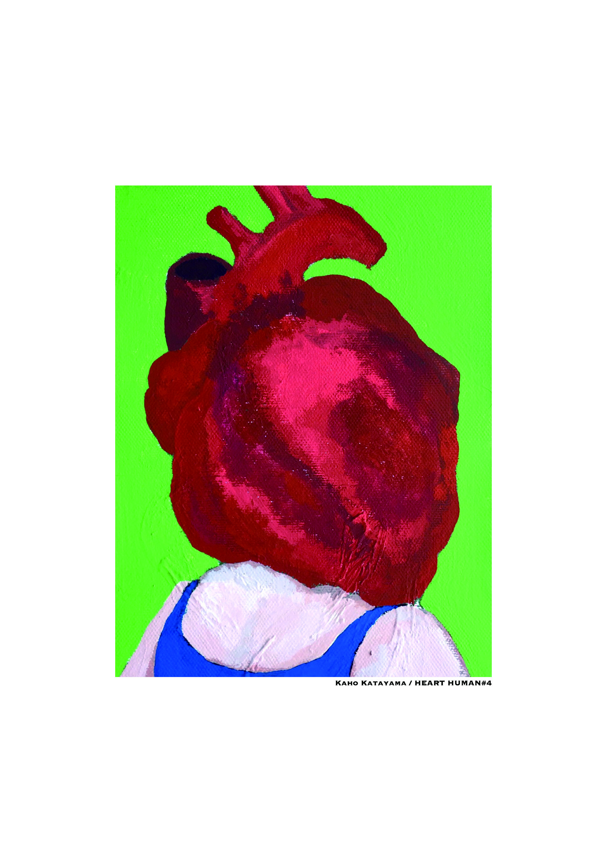 HEART HUMAN #4 /18cm×14cm/Acrylic painting/ Original picture