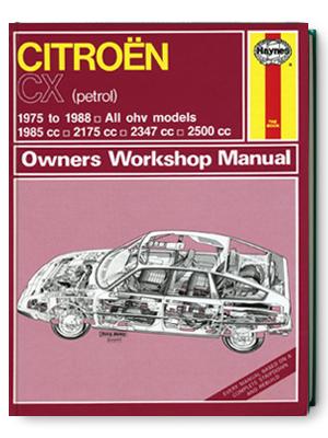 シトロエン・CX ・1975-1988・オーナーズ・ワークショップ・マニュアル