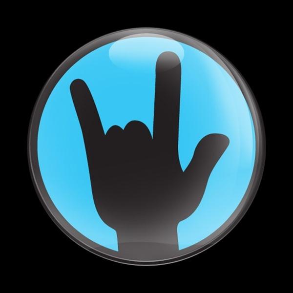 ゴーバッジ(ドーム)(CD0445 - ROCK ON BLUE) - 画像1