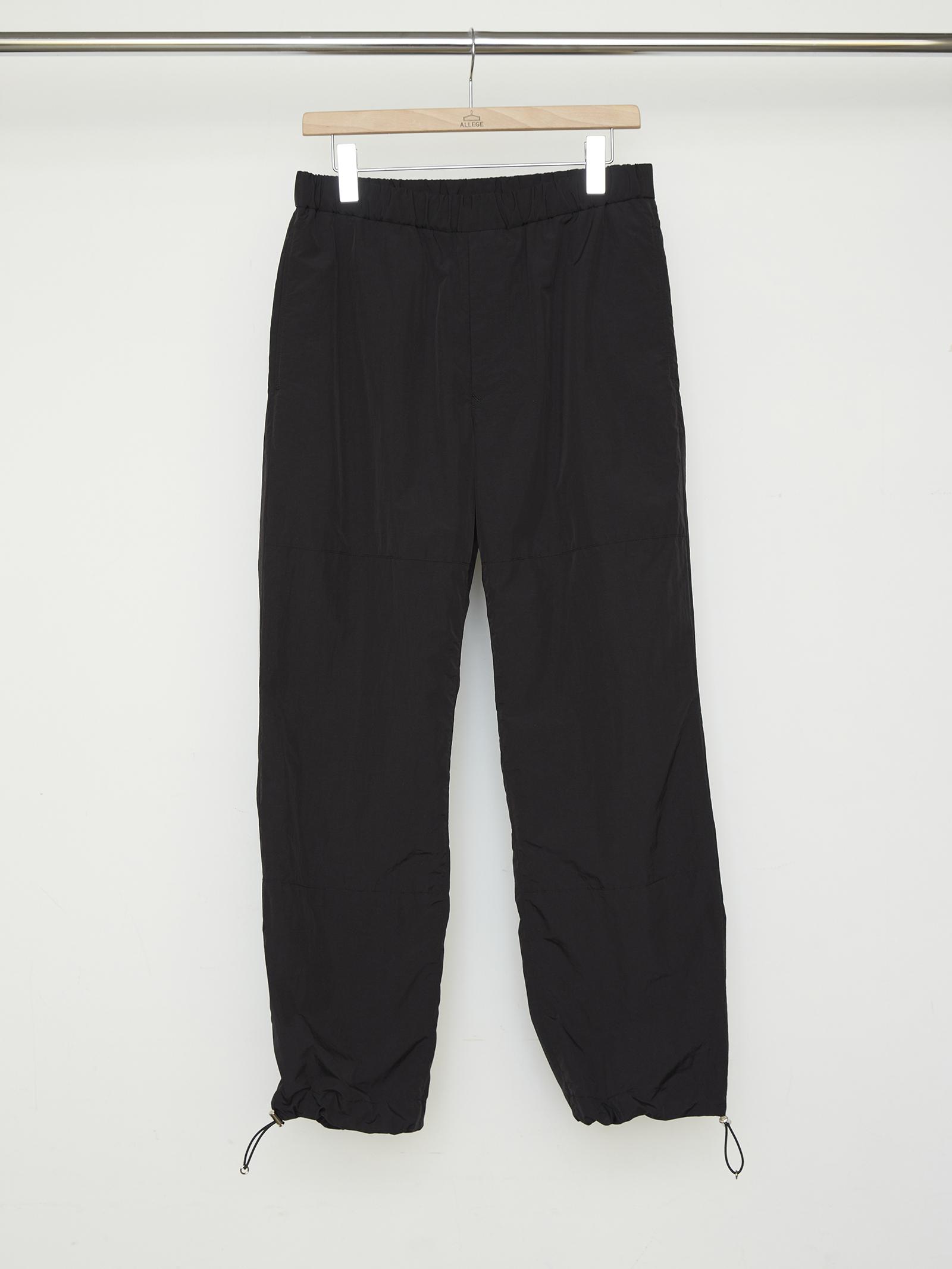 Nylon Easy Pants - BLACK