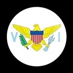 ゴーバッジ(ドーム)(CD0793 - FLAG US Virgin Islands) - 画像1