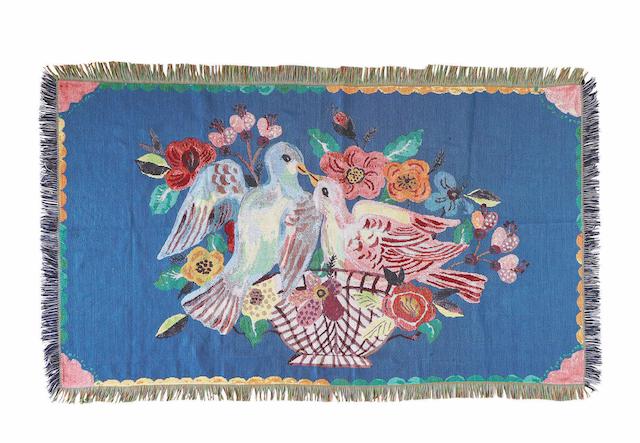 Nathalie Lete Tapestry Rug Two birds ナタリーレテ タペストリーラグ