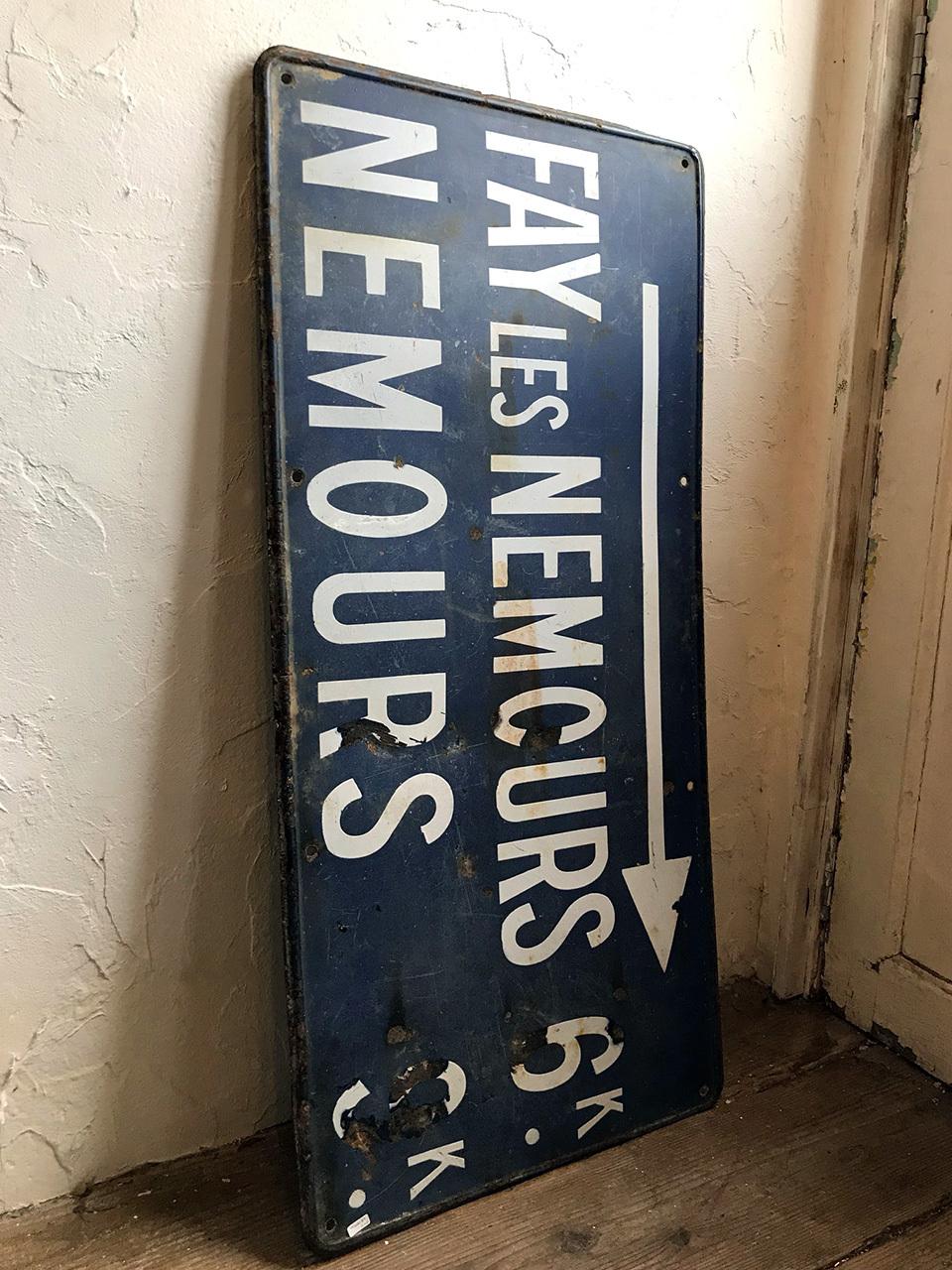 道路標識 看板 プレート NEMOURS