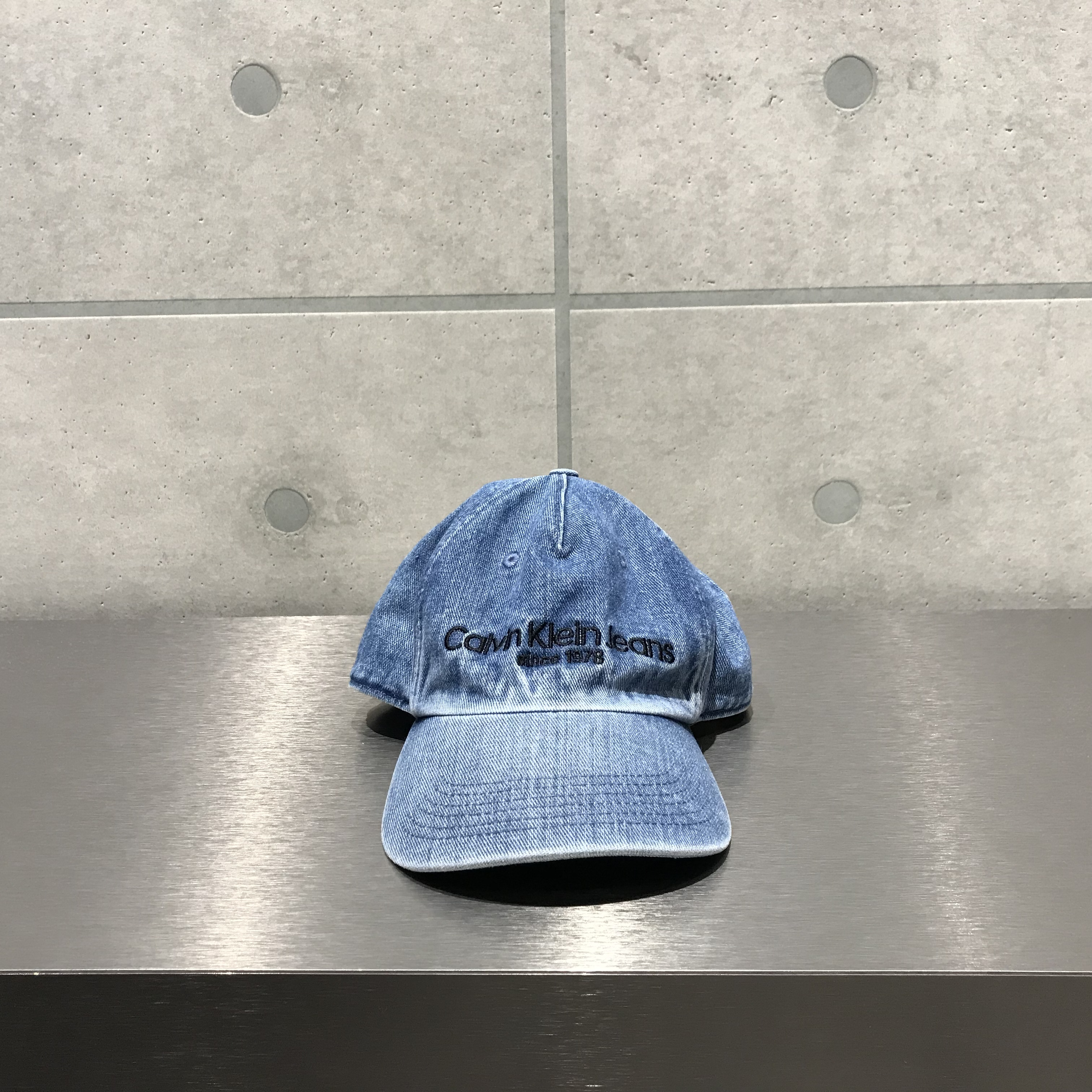 Calvin Klein LOGO DENIM CAP / BLUE