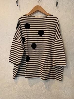 NARU/ ボーダードット7分袖Tシャツ 54