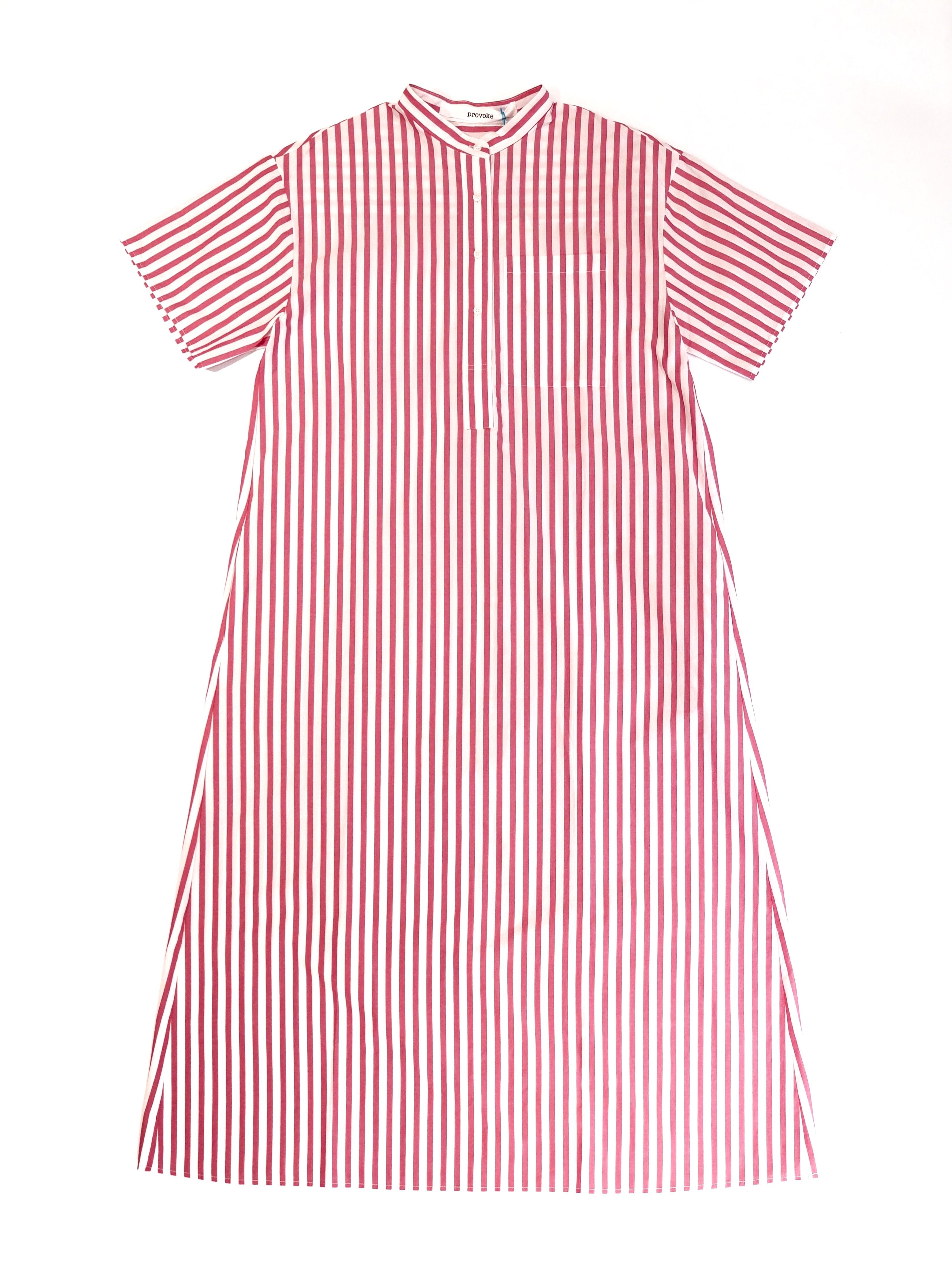 【PROVOKE】STRIPE SUPER LONG  SHIRT-DRESS