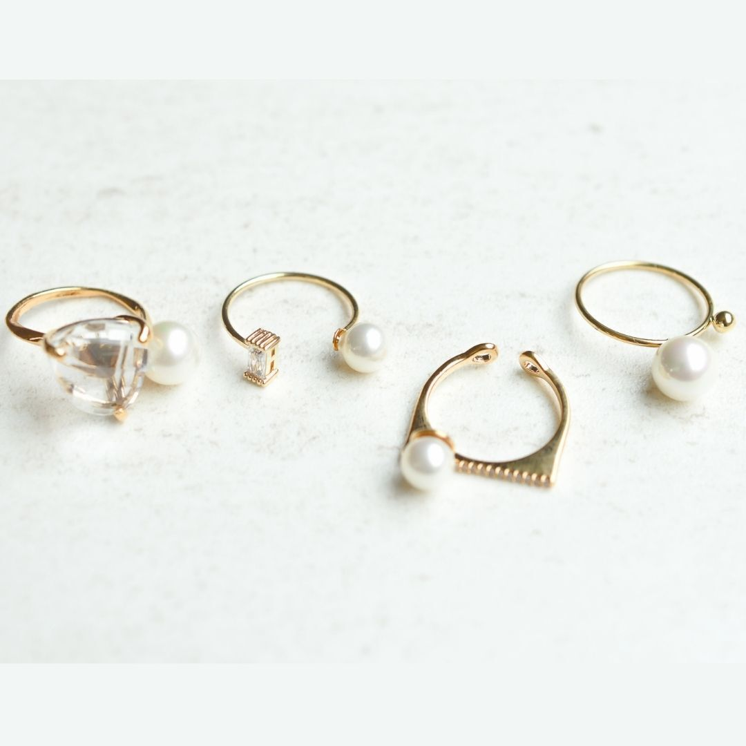 different pearls ring