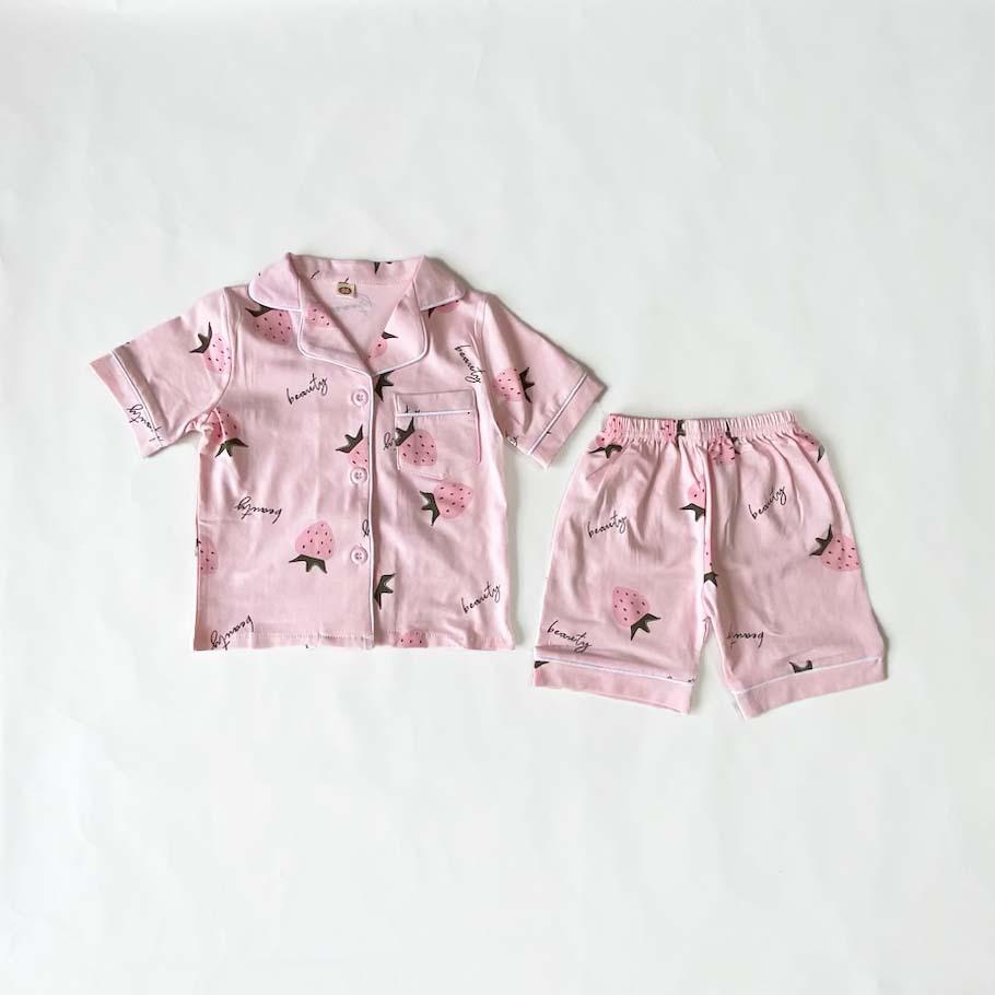 ストローベリー柄パジャマ【R022】