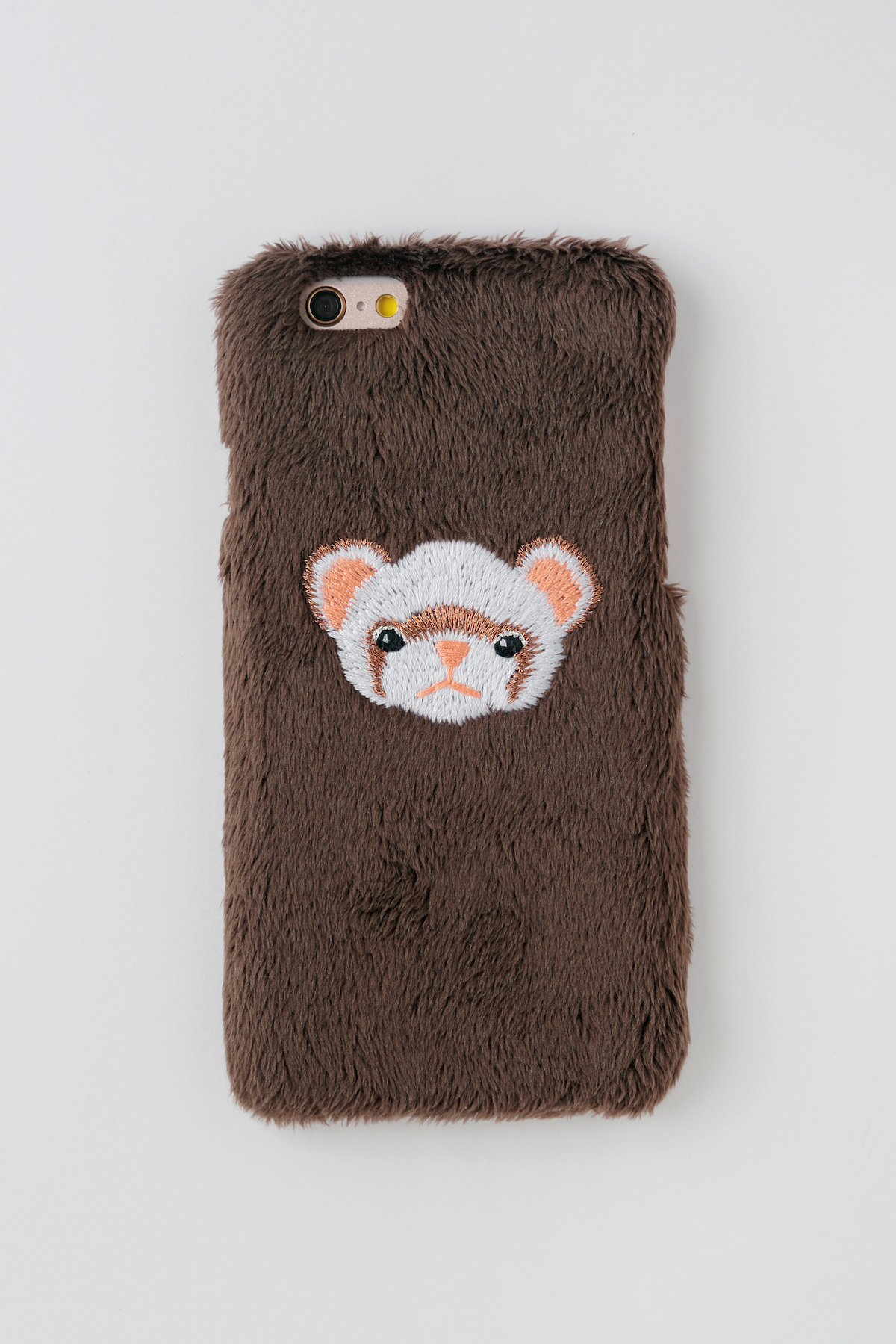 【iPhone7,8専用】フェレットiPhoneハードケース【セーブル】