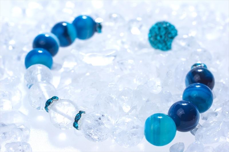 Blue onyx【パワーストーンブレスレット 】 - 画像3