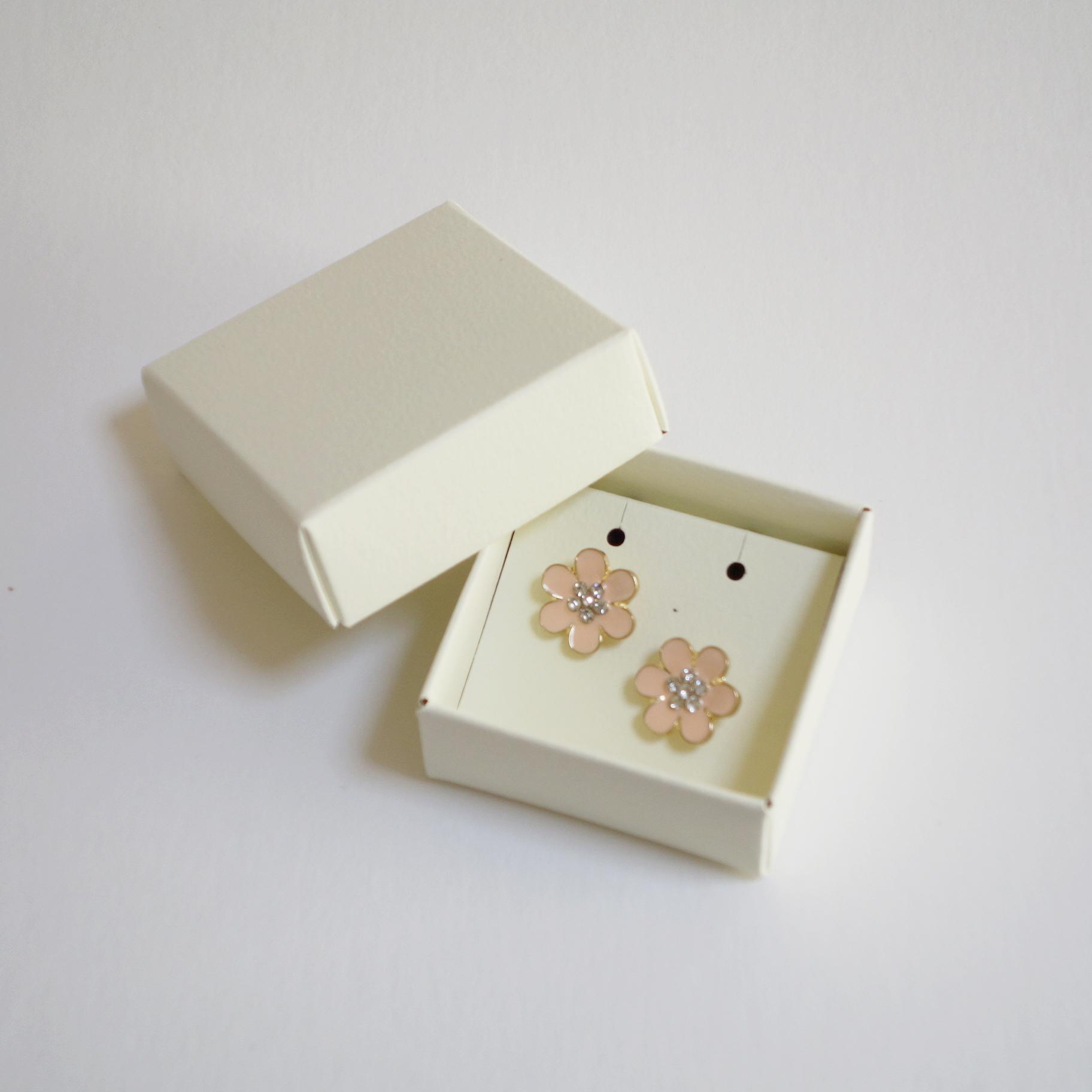小さな箱 2個セット ふたと身箱タイプ アクセサリー用台紙付き