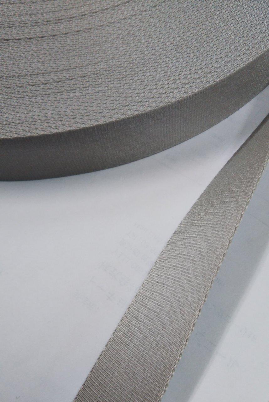 ナイロン サテン調 朱子織 20mm幅 カラー  5m