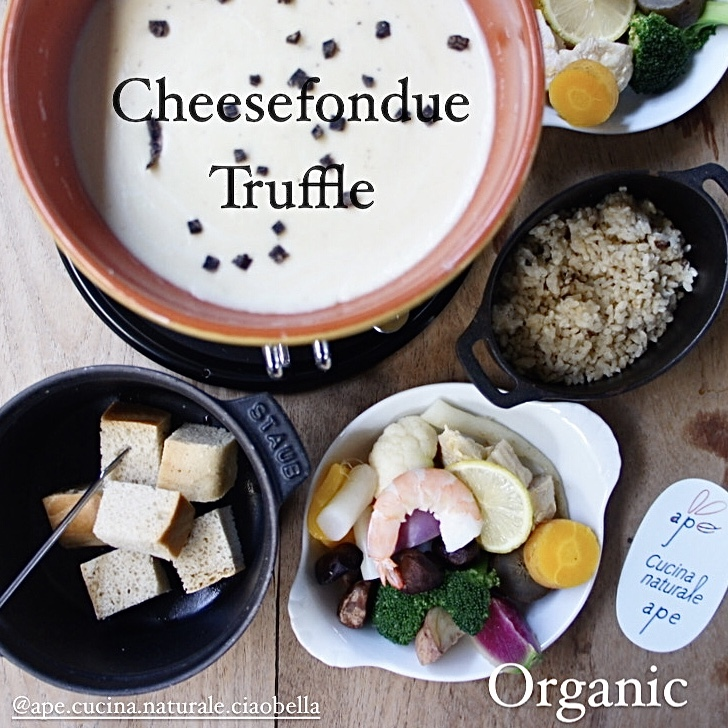 トリュフとくるみのチーズフォンデュ