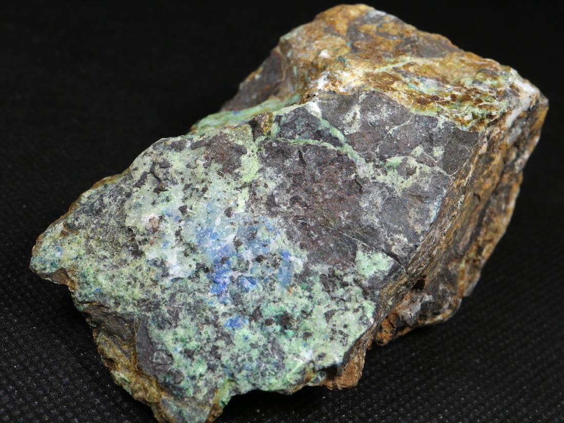 自主採掘!リナライト & カレドナイト 青鉛鉱 カレドニア石 234,3g LN024 鉱物 原石 天然石 パワーストーン